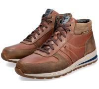 Mephisto BORAN men's sneaker high - leather mix - hazelnut brown