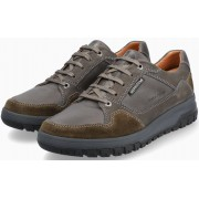 Mephisto PHIL men's lace-up shoe - grey/green - leather/suede -  hydroprotect