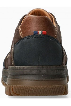 Mephisto PHIL men's lace-up shoe - brown/blue - leather/suede -  hydroprotect
