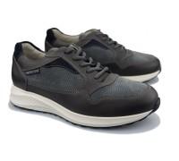 Mephisto DAVIS Men's sneaker - Leather mix - Dark Grey