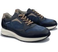 Mephisto DAVIS Men's sneaker - Leather mix - Navy blue
