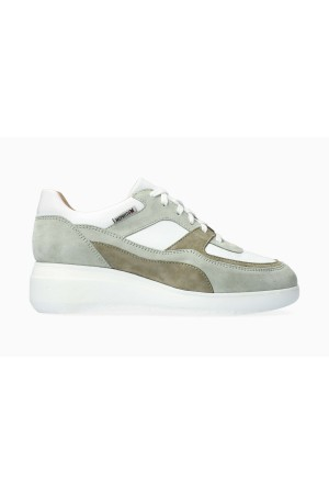 Mephisto LUDVINA Suede & Leather Sneaker for Women - Green Almond