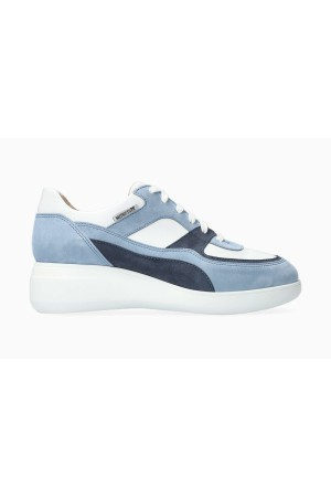 Mephisto LUDVINA Suede & Leather Sneaker for Women - Sea Blue