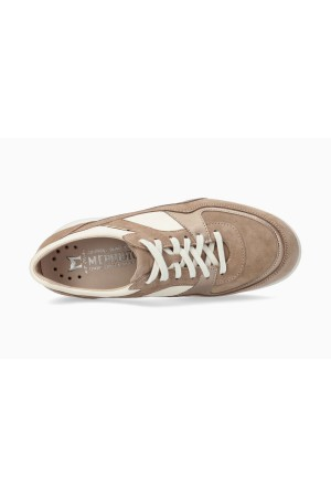 Mephisto LUDVINA Suede & Leather Sneaker for Women - Light Taupe