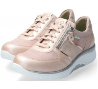 Sano by Mephisto Izae Leather & Suede Sneaker for Women - Wide Fit - Pink