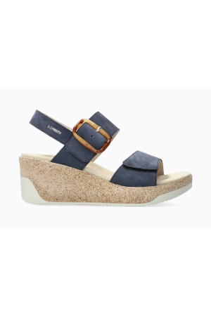 Mephisto GIULIA Women's Sandal Suede - Jeans Blue