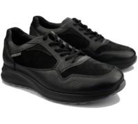 Mephisto DAVIS Men's sneaker - Leather mix - Black
