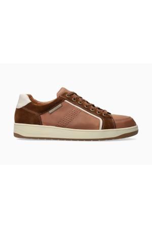 Mephisto HARRISON Leather & Suede Shoe for Men - Chestnut