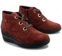 Mobils by Mephisto PERYNE women's ankle boot - red - suede - WIDE FIT