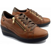 Mobils by Mephisto Patsy -  Women's sneaker - brown leather - Wide fit