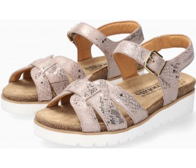 Mobils by Mephisto TISIANE Sandal for Women Leather - WIDE FIT - Light Taupe