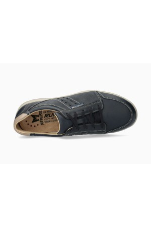 Mephisto VINCENTE Leather Sneaker for Men - Navy