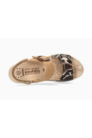 Mobils by Mephisto PHELICIA Women Sandal Nubuck & Leather - Wide Fit - Dark Brown