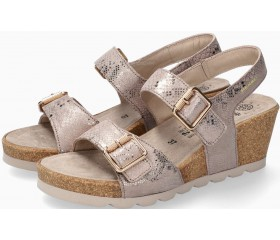 Mobils by Mephisto ALYCE Women Sandal Patent Leather - Wide Fit - Light Taupe