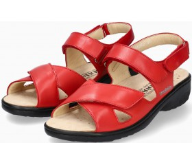 Mobils by Mephisto GERYNA Women Sandal Smooth Leather - Wide Fit - Red
