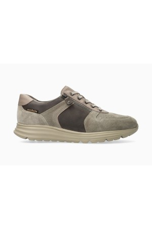 Mobils by Mephisto BRAYAN Leather & Suede Sneakers for Men - Wide Fit - Light Kaki