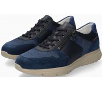 Mobils by Mephisto Brayan Leather & Suede Sneakers for Men - Wide Fit - Mulberry