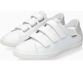 Mobils by Mephisto HELOISE Leather Velcro Shoe for Women - Wide Fit - White