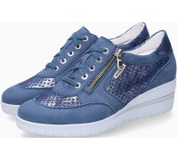 Mobils by Mephisto PRECILIA PERF Suede Sneaker for Women - Wide Fit - Denim