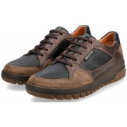 Mephisto PHIL men's lace-up shoe - hazelnut - leather/suede -  hydroprotect