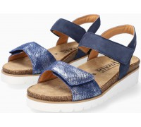 Mobils by Mephisto THELMA Women Sandal Nubuck & Leather - Wide Fit - Navy