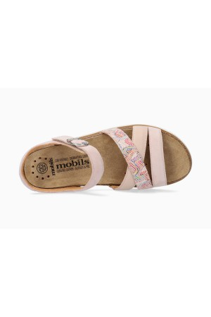 Mobils by Mephisto THINA Women's Sandal Suede & Leather - Wide Fit - Pink