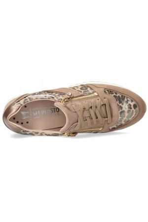 Mephisto Toscana Suede & Leather Sneaker for Women - Light Taupe