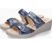 Mobils by Mephisto PAULA Women Sandal Leather - Extra Wide - Navy