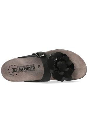 Mephisto Helen Flower Women's Sandal Nubuck - Black