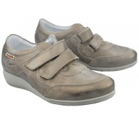 Mobils by Mephisto JENNA Women's Sneaker - Silver Leather - EXTRA WIDE