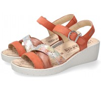 Mobils by Mephisto Pietra Women Sandal Suede - Orange/Brown WIDE FIT