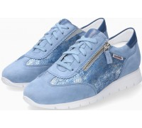 Mobils by Mephisto Donia Leather, Suede & Nubuck Lace-Up Shoes For Women - Wide Fit - Sea Blue