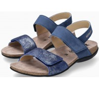 Mephisto AGAVE Women Sandal Nubuck Leather - Blue