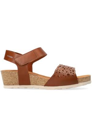 Mephisto RAPHAELA women's sandal - Hazelnut Brown - Leather