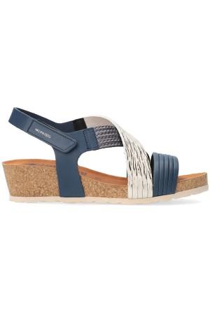 Mephisto RENZA Women's Sandal - Blue Leather
