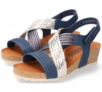 Mephisto RENZA Women's Sandal - Blue Leather
