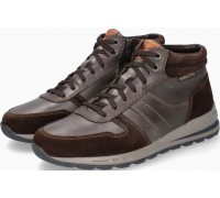 Mephisto BORAN Leater & Suede Men's Ankle Boot - Dark Brown
