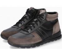 Mephisto BORAN Leater & Suede Men's Ankle Boot - Dark Grey