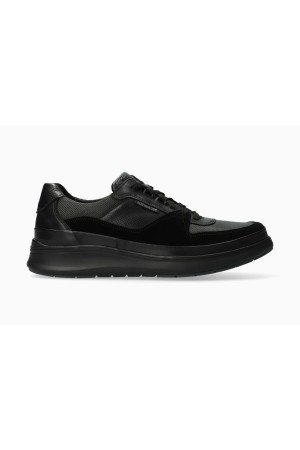 Mephisto JULIEN Leather, Textile & Suede Lace-Up Shoe for Men - Black