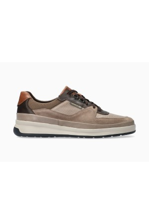 Mephisto JULIEN Leather, Textile & Suede Lace-Up Shoe for Men - Light Taupe