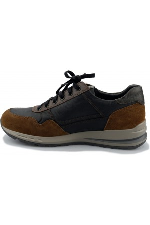 Mephisto BRADLEY leather sneakers for men - black combi