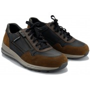 Mephisto BRADLEY leather sneakers for men - black combi