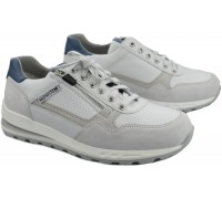 Mephisto BRADLEY Men's Sneaker - Off White - Mixed Leather