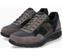 Sano by Mephisto AMORY Leather & Suede Sneakers for Men - Wide Fit - Graphite