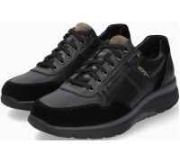 Sano by Mephisto AMORY Leather & Suede Sneakers for Men - Wide Fit - Black