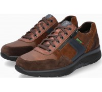 Sano by Mephisto AMORY Leather & Suede Sneakers for Men - Wide Fit - Brown