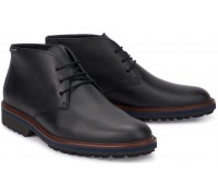 Mephisto BERTO Men's Leather Ankle Boot - Black