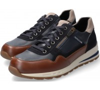 Mephisto BRADLEY leather sneakers for men - chestnut brown