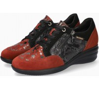 Mobils by Mephisto SHARONA Women Sneakers Patent Leather, Nubuck & Suede - Wide Fit - Dark Taupe