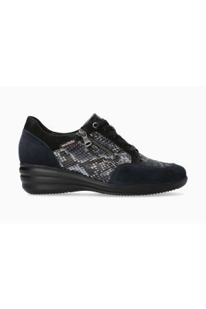 Mobils by Mephisto SHARONA Women Sneakers Patent Leather, Nubuck & Suede - Wide Fit - Navy